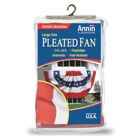 Stars & Stripes Pleated Fan -