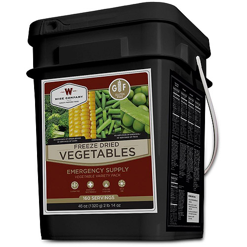Wise Foods Freeze Dried Vegetable 160 Servings, Gluten-Free by Wise Foods