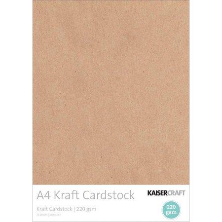 220gsm Cardstock, A4, 20pk, Kraft - Kraft Cardstock