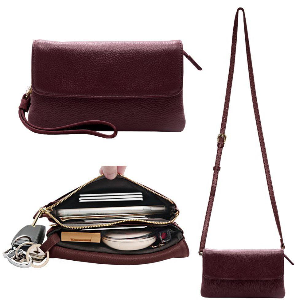 6da6cf5c112d Brand - Befen Womens Leather Wristlet Clutch Crossbody Cell Phone ...