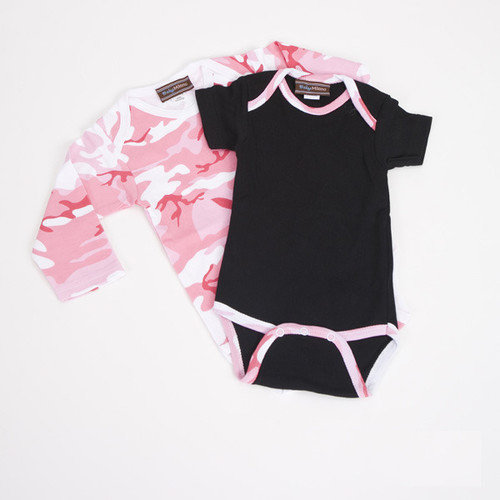 Baby Milano Infant Bodysuit Gift Set in Pink Camo