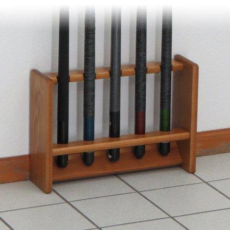 Wooden Mallet Pool Cue Rack, 5 Cue, 4