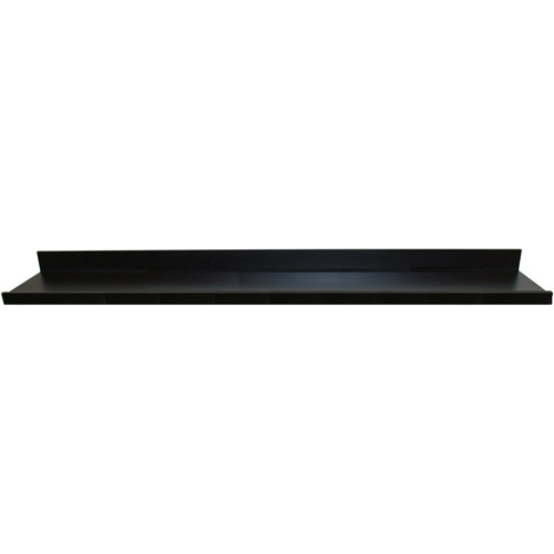 "InPlace 72"" W x 4.5"" D x 3.5"" H Floating Picture Ledge Shelf, Black"