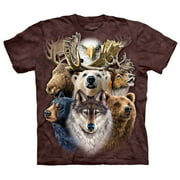 Men's Northern Wildlife Collage Small T-shirt