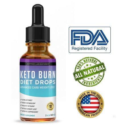Keto Diet Drops Supplement Shred Burn Faster Ketosis BHB Weight Loss Fat  Burn Carb Blocker