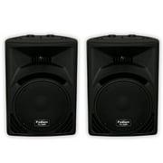 "Podium Pro PP1210 Passive 12"" Speaker Pair 1500 Watts ABS PA DJ Karaoke PP1210-PR"