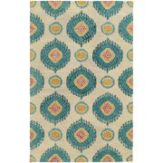 Tommy Bahama Jamison Area Rugs - 53306 Contemporary Beige Circles Round Curves Loops Rug