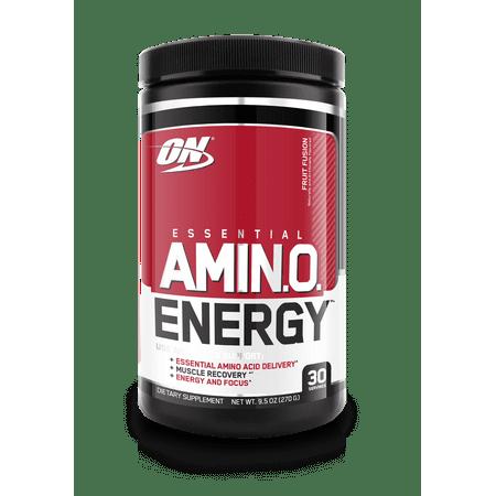 Optimum Nutrition Amino Energy Pre Workout + Essential Amino Acids Powder, Fruit Fusion, 30 Servings
