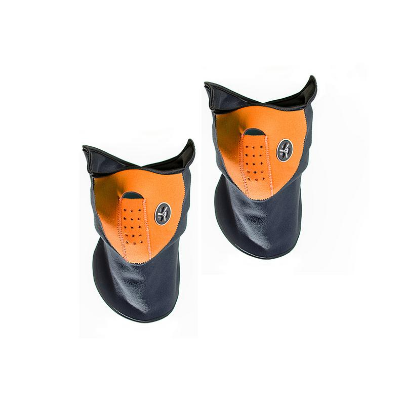 Sport Force Face and Neck Ski Mask-(Two Pack Orange) by Unbranded