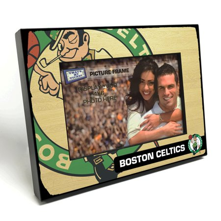 Boston Celtics Black Wood Edge 4x6 inch Picture Frame - Walmart.com
