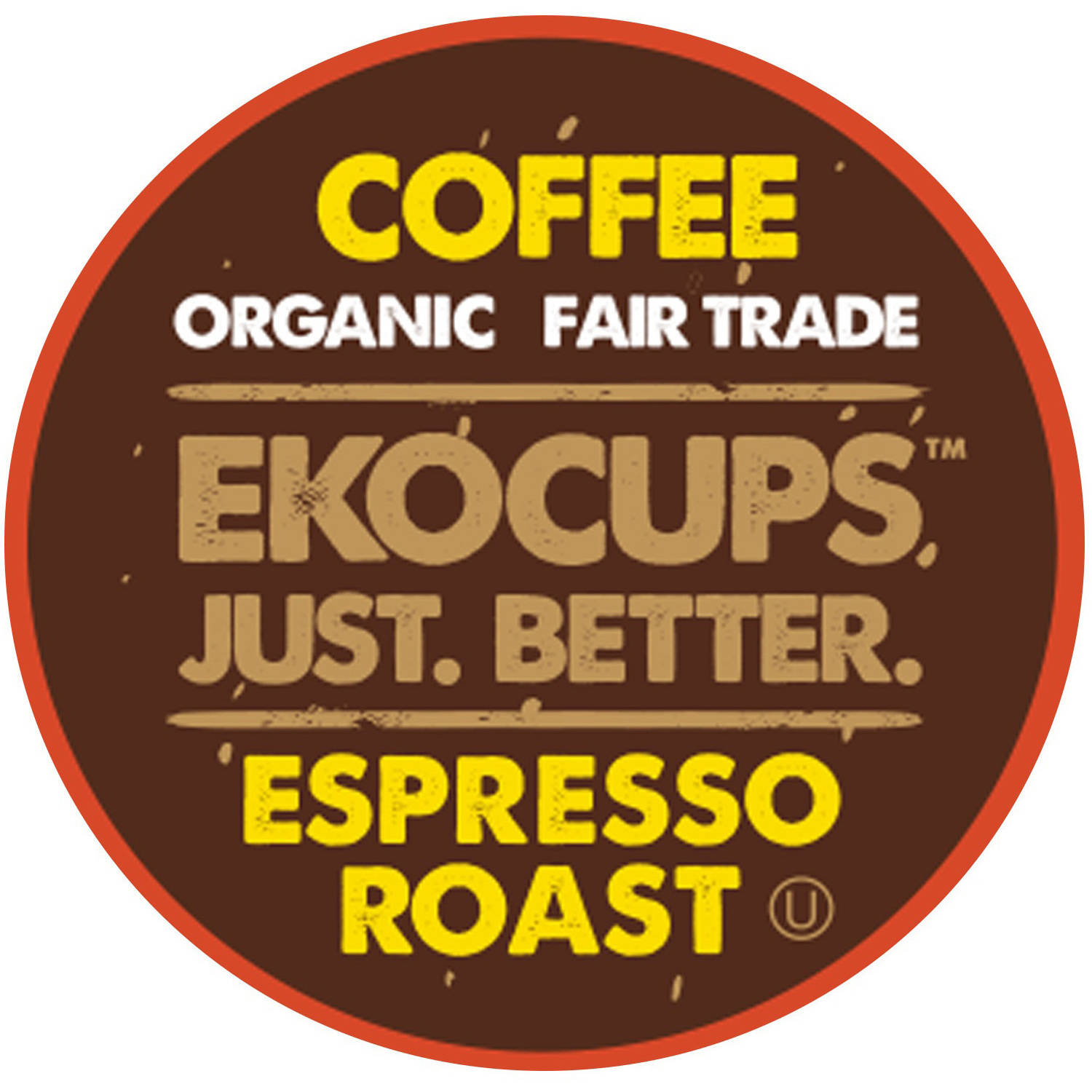 EkoCups, Organic Fair Trade Espresso Roast Coffee Single Serve Cups, 40 Ct