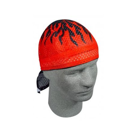 Zan Headgear Vented Flydanna Headwraps Red Flames