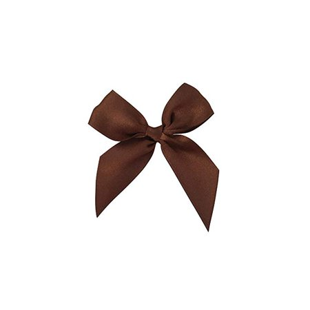 Brown Satin Pre-tied Decorative Bows - 3