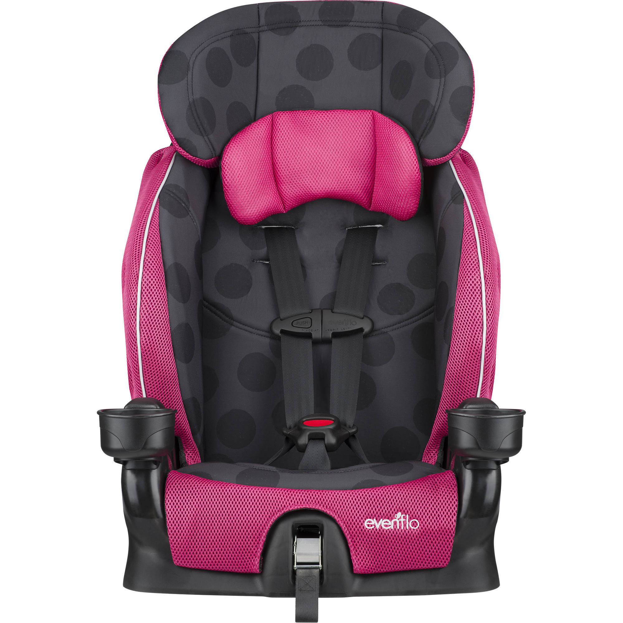 evenflo advanced chase lx harness booster seat dotty flamingo 32884187133 ebay. Black Bedroom Furniture Sets. Home Design Ideas