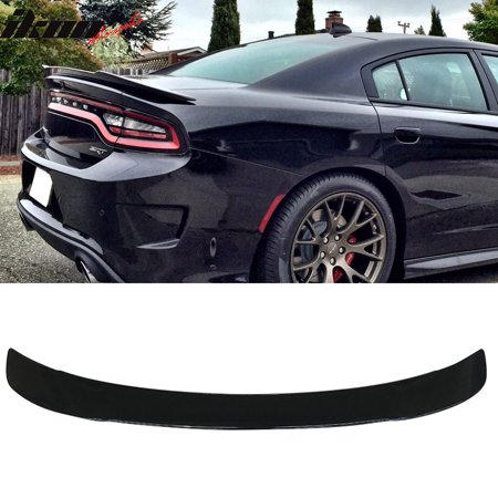 Fits 15-18 Dodge Charger SRT8 SRT Hellcat Style Trunk Spoiler Painted #PX8  Black