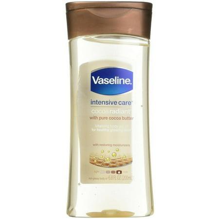 2 Pack - Vaseline Intensive Care Cocoa Radiant Body Gel Oil, 6 8 oz