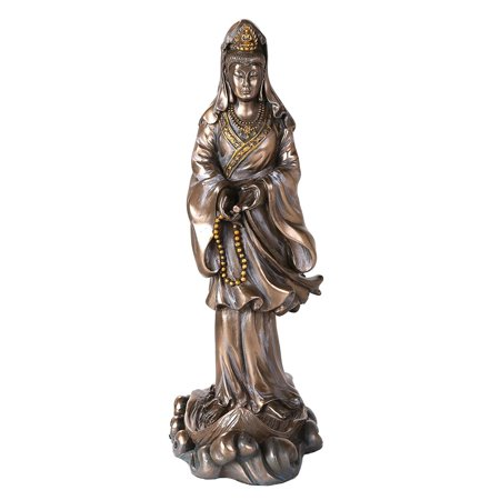 Bronze Kuan Yin Kwan Ying Statue Figure Deity Chinese Goddess of Compassion By Pacific Giftware