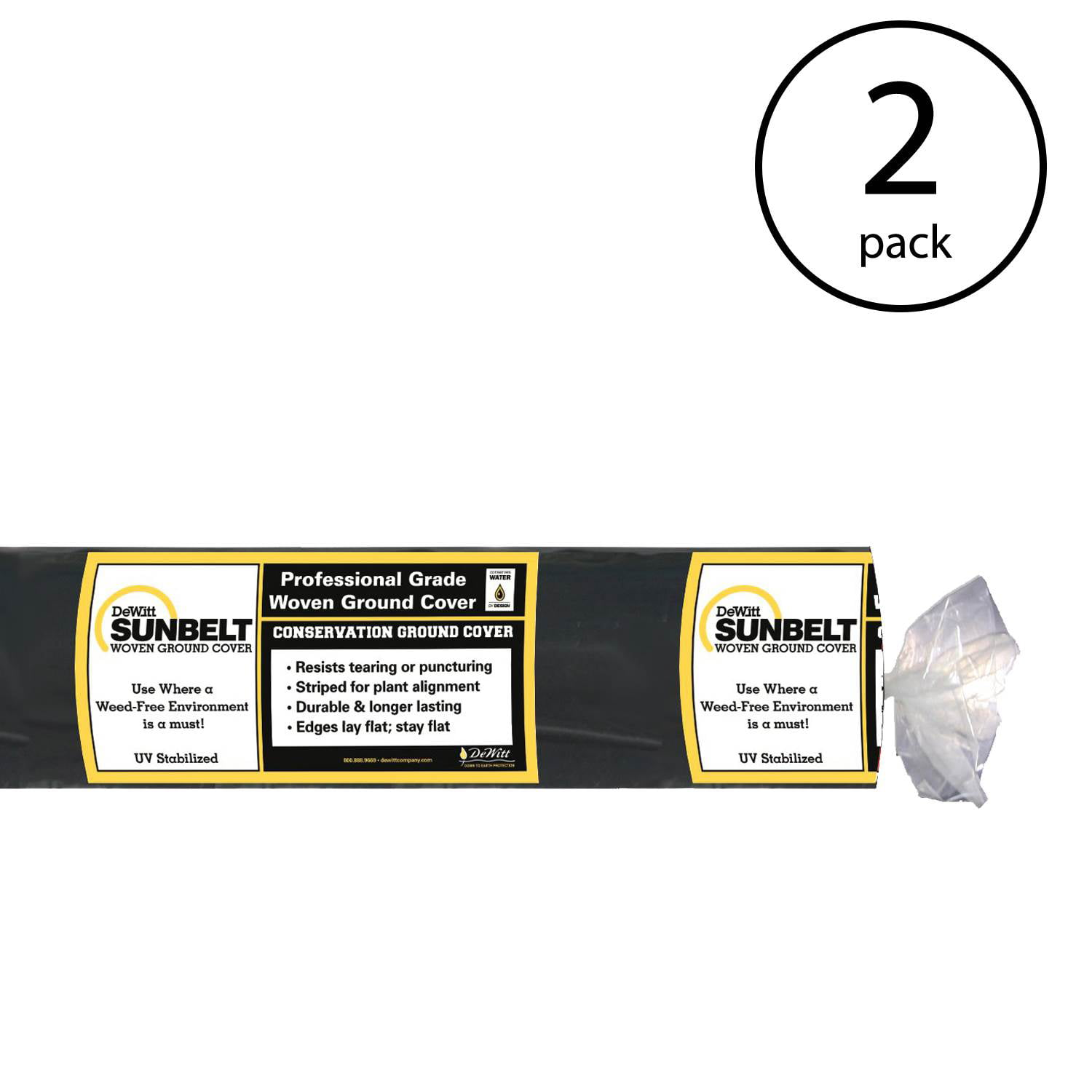 2 Pack Dewitt P5 5 X 250 Foot 5 Ounce Commercial Landscape Weed Barrier Fabric Weed Barrier Fabric Patio Lawn Garden