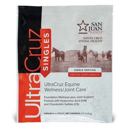 UltraCruz Equine Wellness/Joint Care Supplement for Horses, 60 Single Servings, pellets (30 Day Supply) 60 Sec Single Supply