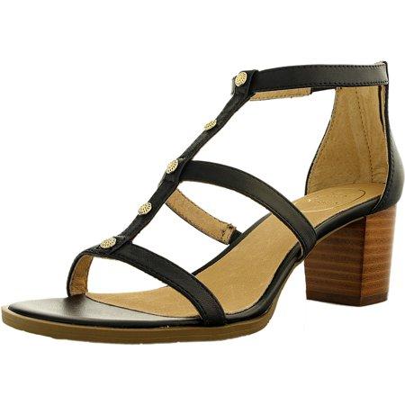 Jack Rogers Women's Julia Leather Black Ankle-High Pump - 8.5M