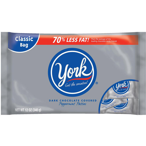 York Dark Chocolate Covered Peppermint Patties, 12 Oz