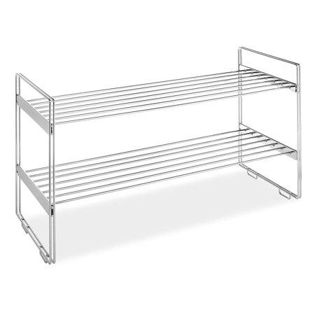Stackable Closet Shelves, Chrome