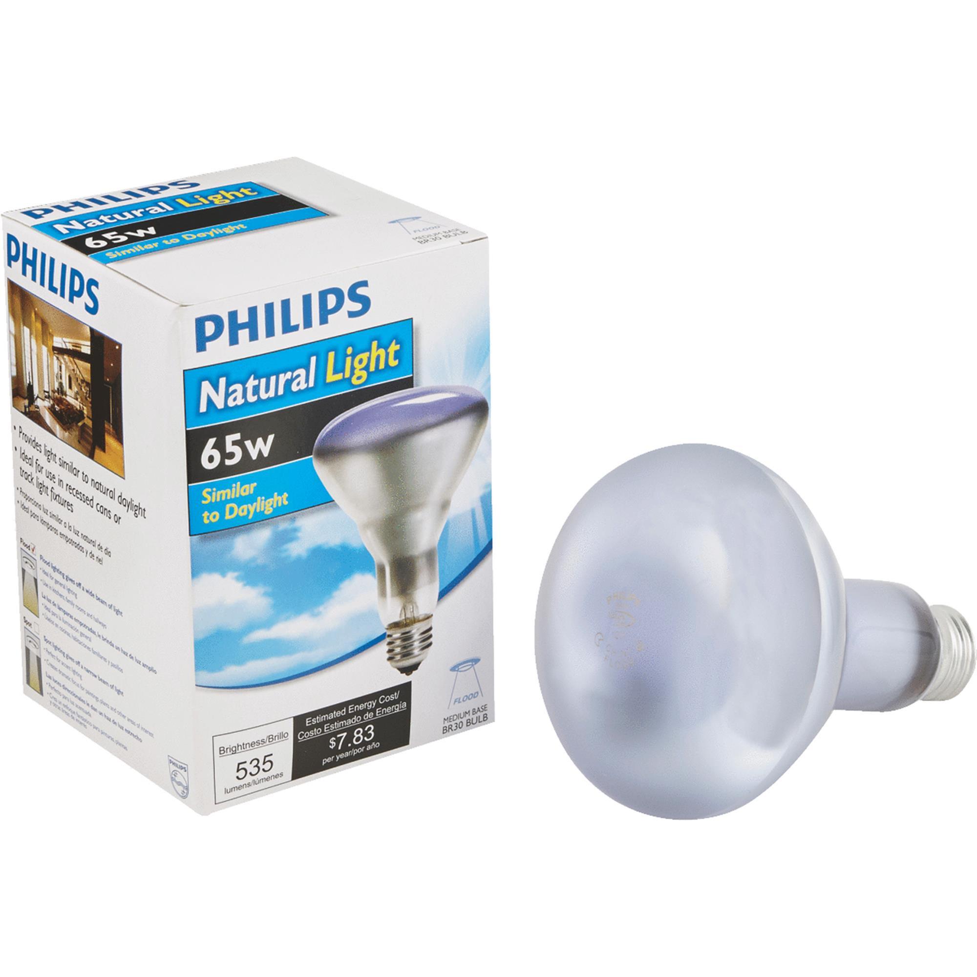 Philips Natural Light BR30 Incandescent Floodlight Light Bulb