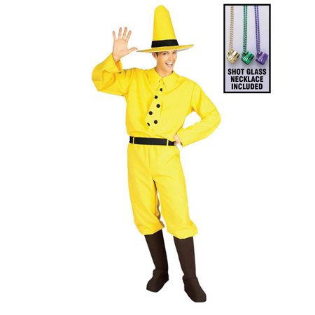 Man in the Yellow Hat Curious George Costume for Adults Party Kit