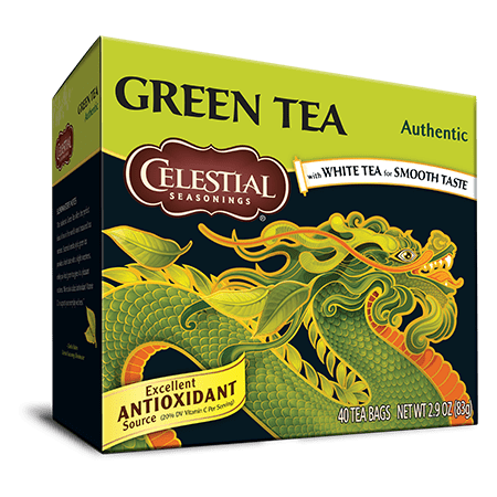 Celestial Seasonings Green Tea, Authentic, 40