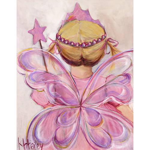 Oopsy Daisy - Little Fairy Princess - Blonde Canvas Wall Art 14x18, Kristina Bass Bailey