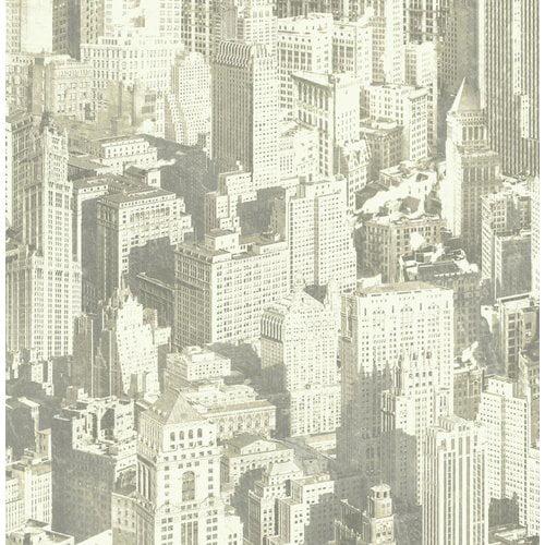 YORK Urban Chic Big Apple 33' x 20.5'' Figural Roll Wallp...