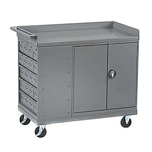 Tennsco Mobile Workbench with Cabinet and Drawers by Tennsco Corp