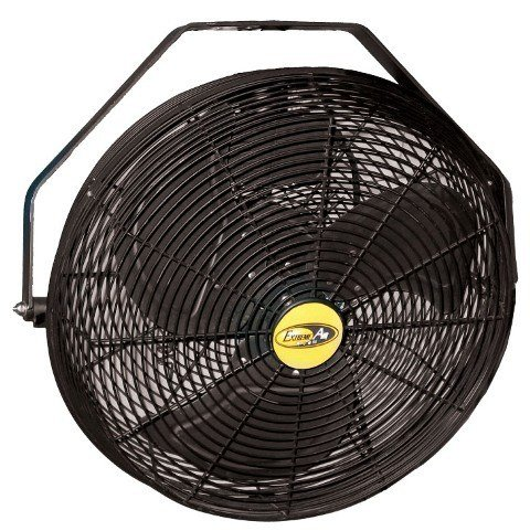 J and D POW18B 18 inch Black Indoor & Outdoor Wall, Ceiling, Or Pole Mount Fan