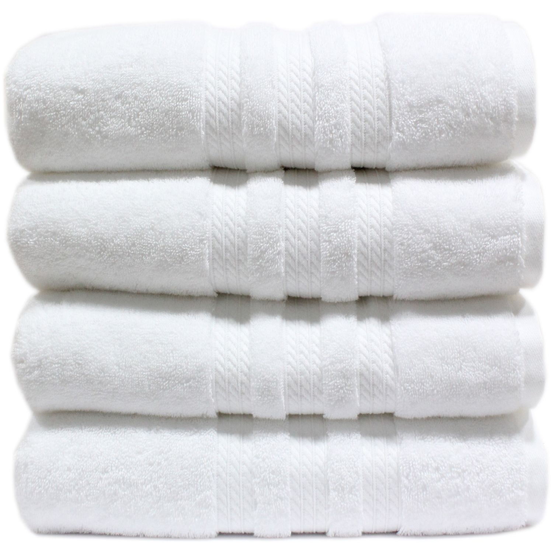 "100% Cotton Luxury Bath Towel - 30"" x 58"" - White"