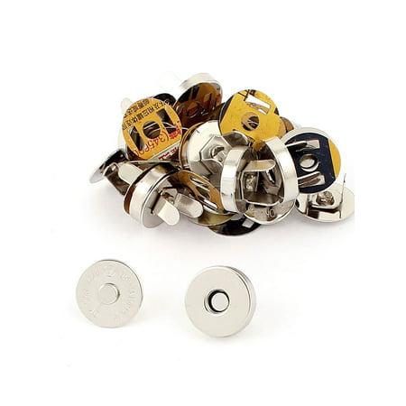 Unique Bargains 14mm Dia Purse Bag Button Magnetic Snaps Closures 10pcs
