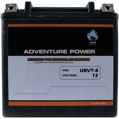UPG 42030 UBVT-8, Sealed AGM V-Twin Power Sports Battery