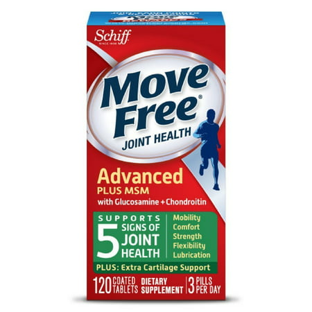 Glucosamine Chondroitin Msm 120 Tab - Move Free Advanced Glucosamine Chondroitin MSM and Hyaluronic Acid Joint Supplement, 120 ct, Uniflex helps protect joint tissue and cartilage By Schiff Nutrition Group Inc Ship from US