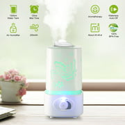 iMounTEK 1500ml Ultrasonic Aroma Essential Oil Diffuser Air Humidifier w/7 Color LED Lights Waterless Auto Off Delicate Carve Patterns for Office Home Room Study Yoga Spa