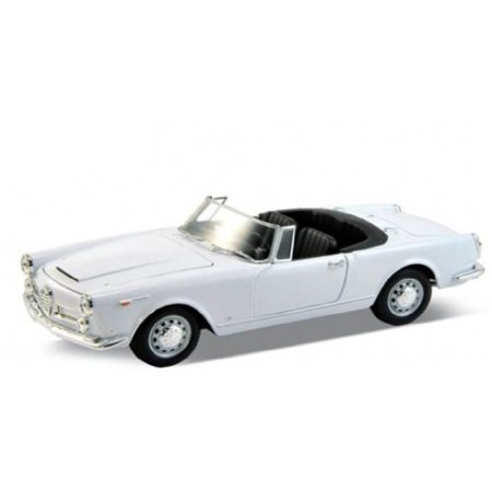 - 1960 Alfa Romeo Spider 2600 Convertible White 1/24 by Welly 24003cw