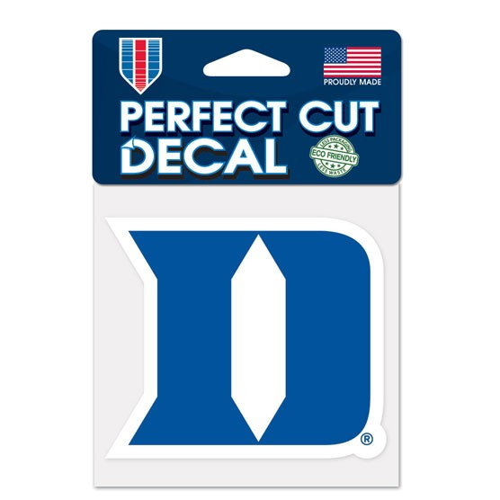 Duke Blue Devils Official NCAA 4 inch x 4 inch  Die Cut Car Decal by Wincraft