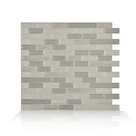 Smart Tiles 10.20 in x 9.10 in Peel and Stick Self-Adhesive Mosaic Backsplash Wall Tile - Muretto Beige (each)