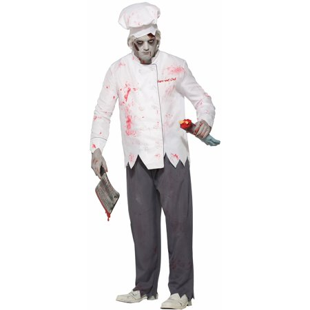 Adult Men's Zombie Short Order Cook Costume Halloween Outfit Size Standard - The Halloween Series In Order