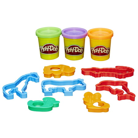 Play-Doh Beach Creations Set with 3 Cans of Dough, 6+ Tools & Storage Bucket