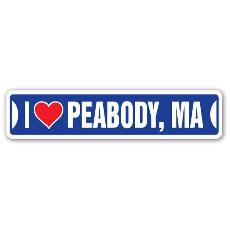 I LOVE PEABODY, MASSACHUSETTS Street Sign ma city state us wall road décor gift](Party City Ma)