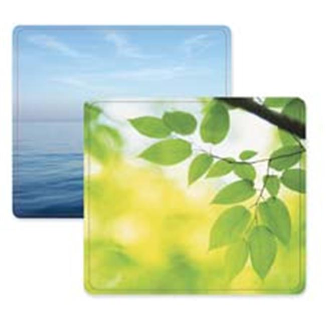 Mouse Pad- Nonslip Back- 9in.x8in.x1.06in.- Leaves