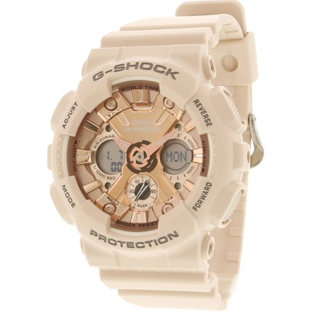 GMAS120MF-4A G-Shock Analog Digital Rose Gold Peach Resin Watch (Baby G Shock Watches Women Red)