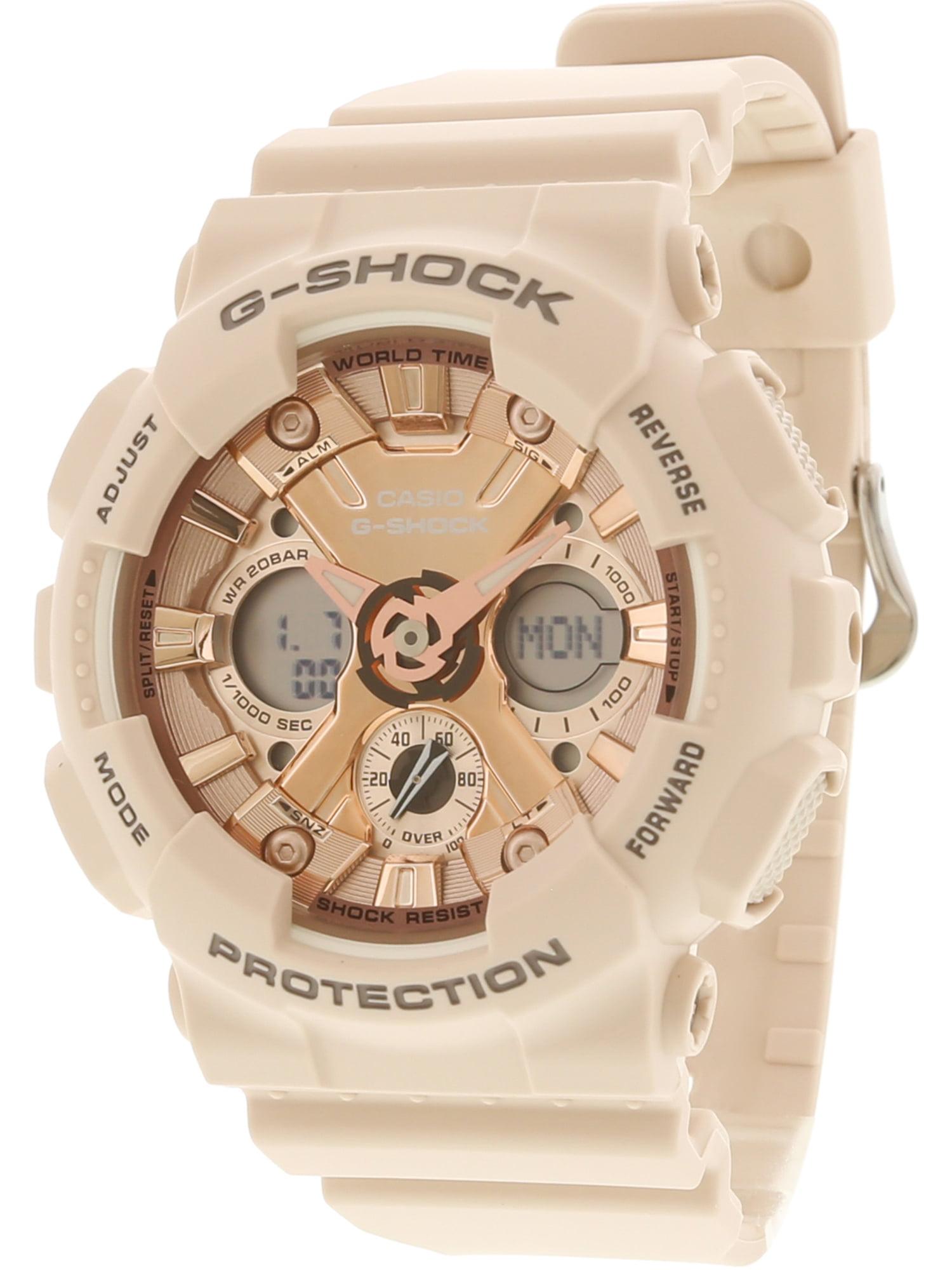 GMAS120MF-4A G-Shock Analog Digital Rose Gold Peach Resin Watch