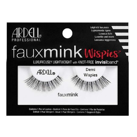 Black Faux Mink Strip Lashes 817, Creates a natural, feathery look By