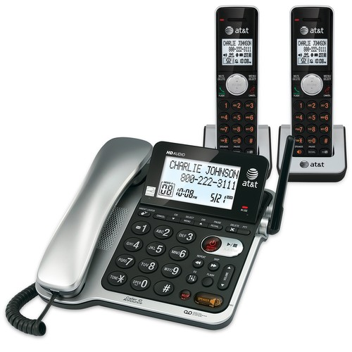 CL84202 DECT 6.0 EXPANDABLE CORDED/CORDLESS PHONE 2 HANDSETS