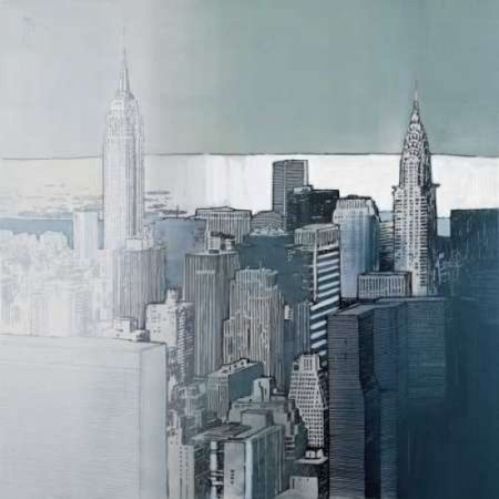 Posterazzi Chrysler And Empire State Buildings Canvas Art   Joan Farre  24 X 24